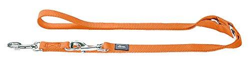 HUNTER Verstellbare Hundeführleine 1,5/200 cm, Nylon, orange -