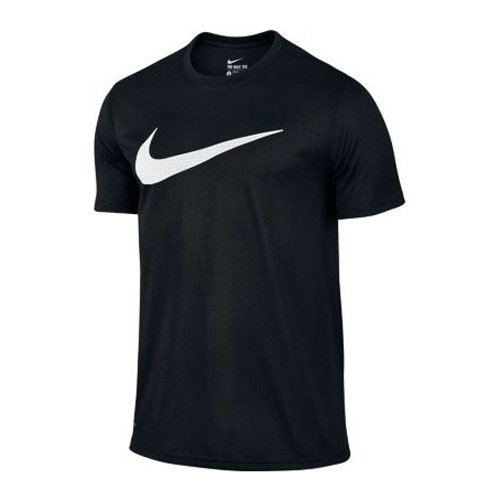T-Shirt a maniche corte da uomo NIKE Legend Mesh Swoosh Tee, 821833 Nero nero/bianco L