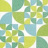Servietten (2er Set / 40Stück) 3-lagig 33x33cm Sommer Muster (Bauhaus pattern)