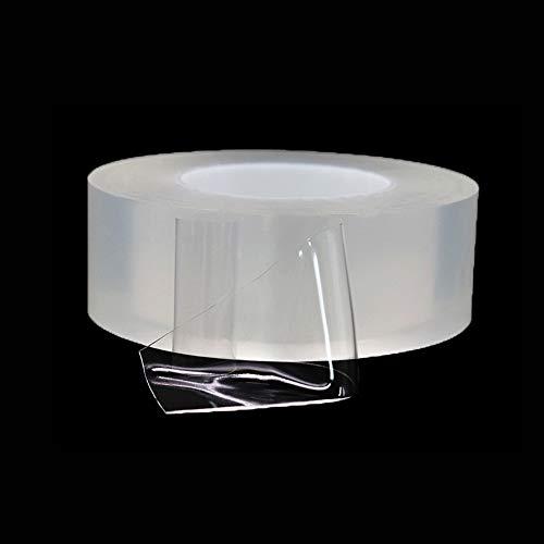 ZAMAOZHU 50mm x 3M Nano Tape Multifunktionales doppelseitiges, spurlos waschbares Anti-Rutsch-Klebeband Wiederverwendbares, recycelbares Gel-Grip-Klebeband