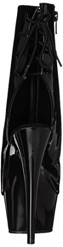 Pleaser Delight 1018, Bottes femme Black (Blk Pat/Blk)