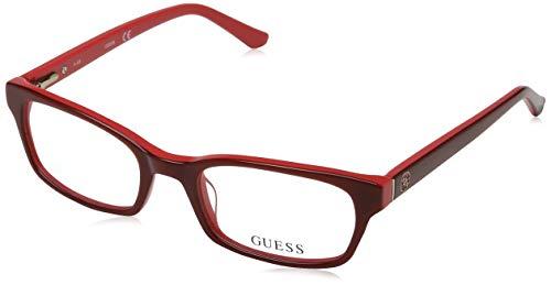 Guess Damen Brille Gu2535 066 50 Brillengestelle, Rot,