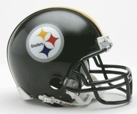 Pittsburgh Steelers Miniature Replica NFL Helmet w/Z2B Mask