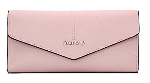 Guess Leder Kupplung (Yourway Sweden Design Damen Geldbörse, Luxus Brieftaschen Für Frauen Groß Kapazität, Portemonnaie mit Kupplung, 11 Kreditkartenfächern Perfekt Für Geschenk)