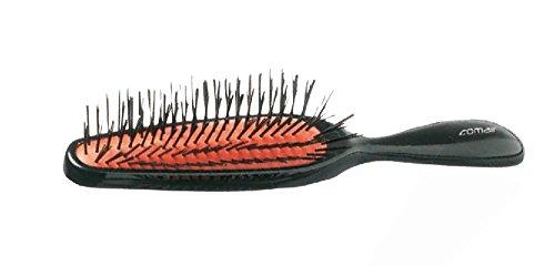 Comair Brosse pneumatique 6 rangées de fin Long 1 x noir avec poils en plastique noir