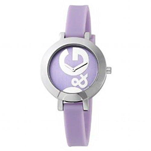 D&G Dolce&Gabbana DW0668 - Reloj para mujeres, correa de silicona color morado