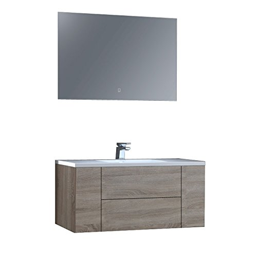 Preisvergleich Produktbild STONEART Badmöbel San Marino SA-1015 Eiche hell/100x45