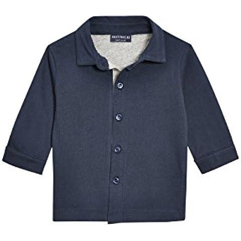 next Niños Infantes Conjunto De Chaleco Y Camisa De Algodón En Azul Marino (3Mths-6Yrs)