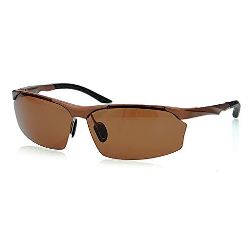 Jinxiaobei Herren Sonnenbrillen Polarisierte Designer Mode Sport Sonnenbrille for Baseball Radfahren Angeln Golf Superlight Rahmen uv400 Schutz Sport polarisierte Sonnenbrille (Color : Brown)