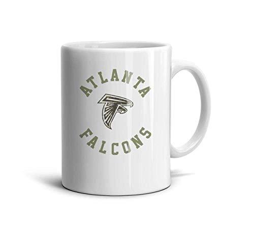 DIMAA White Ceramic 11 OZ Coffee or Tea Mugs Picture Water Tea Ceramic Cups Friend,Dad,Grandpa,Brother Gifts,Atlanta Falcons-8,One Size - Beste Iced Tea Maker