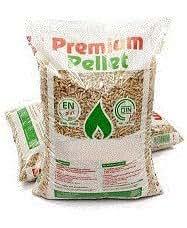 Pellet di puro legno abete certificato En Plus A1 sacchetti 15 kg