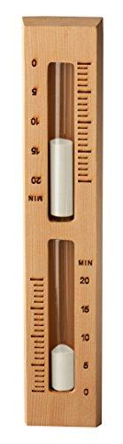 Sauna Sanduhr 15 Minuten Red Cedar Zeder Timer mit weißem Sand