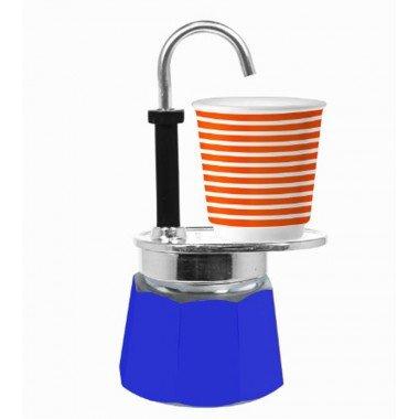Bialetti Mini Express Caffettiera, Blu
