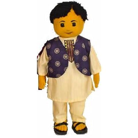 Morbido tessuto indiano doll-1-bambola indossa un tradizionale completo pigiama costumi