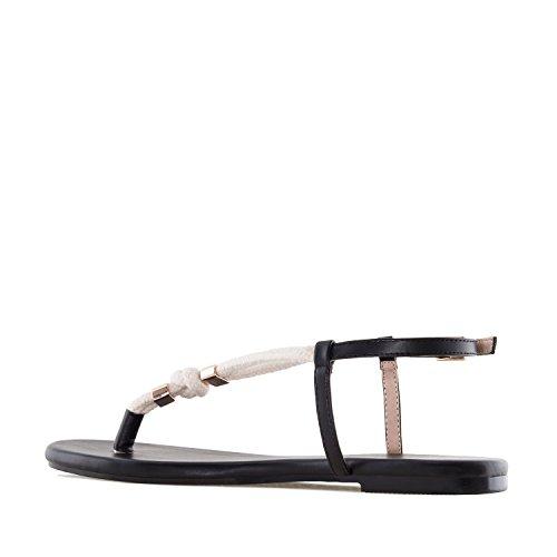 Andres Machado AM5278.Sandales ficelles Soft.Pour Femmes.Grandes Pointures 42/45 Noir