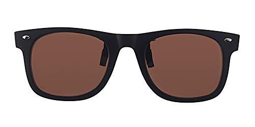 Eyewear World polarisierte Sonnenbrille zum Anklipsen, Blendschutz, braune Gläser, CE-gekennzeichnet