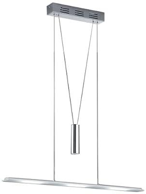 Trio-Leuchten 322910306 LED-Jojo-Pendelleuchte in Chrom/Aluminium, Glas weiss satiniert, inklusive 3x6W LED 3000K, Breite 78 cm, max. Länge 165 cm von Trio Leuchten auf Lampenhans.de