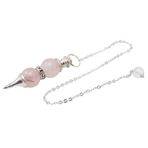 Harmonize Rose Quartz Doppel Kugel Bereich Pendeln Reiki Steinkristall Spirituelle Geschenk