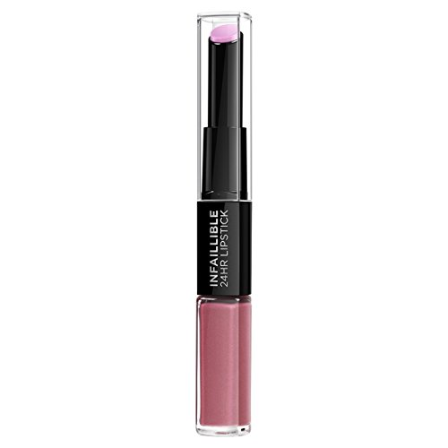 L\'Oreal Paris Lippen Make-up Infaillible Lippenstift, 213 Toujours Teaberry /Liquid Lipstick für 24 Stunden volle Lippen mit feuchtigkeitsspendendem Lippenpflege - Balsam, 1er Pack
