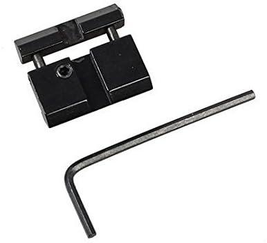 Dovetail a Weaver Picatinny Adaptador Snap In Rail Adaptador 11mm a 22mm Adaptador Adaptador de carril de perfil bajo Negro