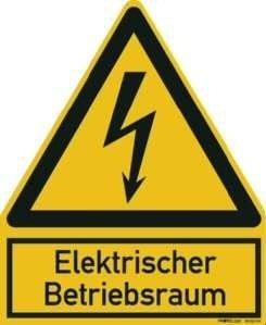 PROTEC.class PWZEB PWZEB Warnzeichen Elektr. Betriebsraum
