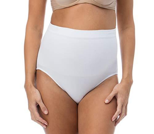 RelaxMaternity 5200 (Bianco, XL) slip post parto contenitivo cotone modellante pancia