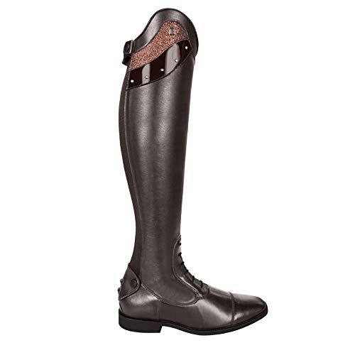 Cavallo Reitstiefel Linus Slim Edition Lack Strass Bling | Farbe: Mocca | Größe: 6-6½ | Schaftform: 52/36