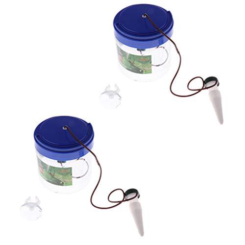 B Blesiya 2 Stück 1300ml Reptilien Wasserspender Wasserfilter Luftbefeuchter für Chamäleon Eidechse