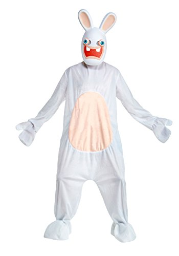 Deluxe Rabbids Adult Fancy dress costume - Raving Rabbid Kostüm