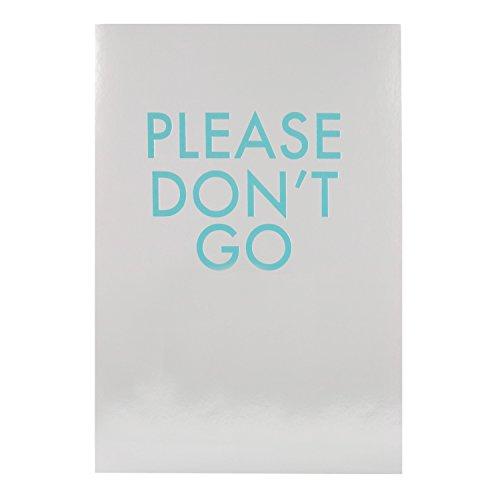 """Hallmark-Tarjeta de despedida tarjeta""""Please don 't go'-Medium"""