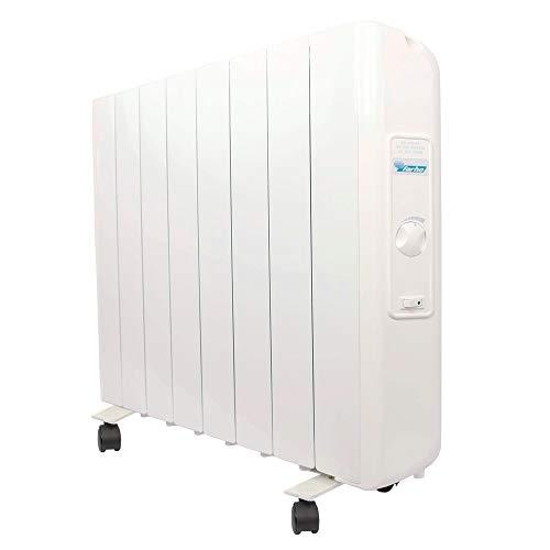 Farho Radiador Eléctrico Eco R Ultra 1330W 8 Bajo Consumo • Emisor Térmico con Termostato Analógico...