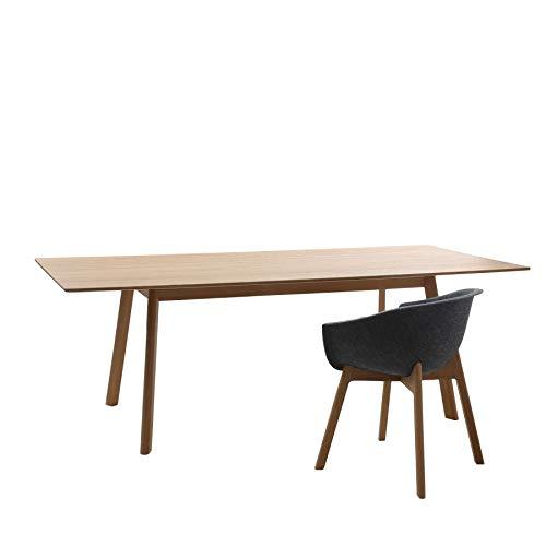 Conmoto PAD Table (Lieferung ohne Steckdosenleiste), Eiche natur, H 76 | B 220 | T 100 cm