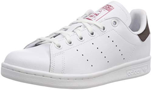 cheap for discount d5835 4becf adidas Stan Smith J, Sneakers Basses Mixte Enfant, Blanc FTWR White Trace  Maroon