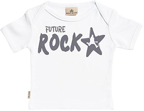 SR - dans boîte cadeau - Future Rockstar T-Shirt Bébé fille - T-Shirt Bébé garçon - Haut Bébé - Coton Bio - coffrets cadeaux pour - 6-12 mois Blanc