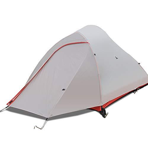 BG&MF Zelt Wasserdicht 2 Personen, Backpacking einstellbare Plane und Zeltstangen Outdoor Camping Zelt für Camping Wandern Reisen Klettern Alpin Zelt-Single
