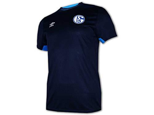Umbro FC Schalke 04 Kinder Training Shirt blau S04 Fußball Jersey Fanartikel Jr, Größe:158 -