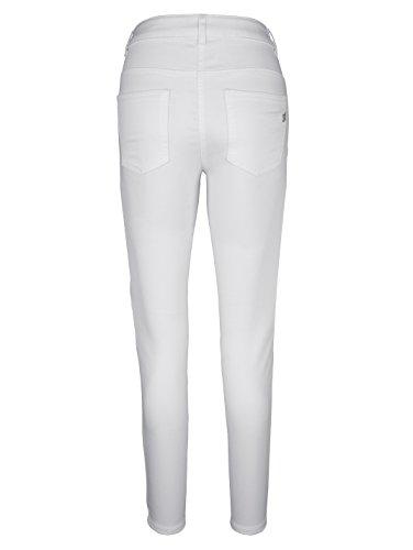 Damen Jeans mit großer Strassdekoration by AMY VERMONT Weiß