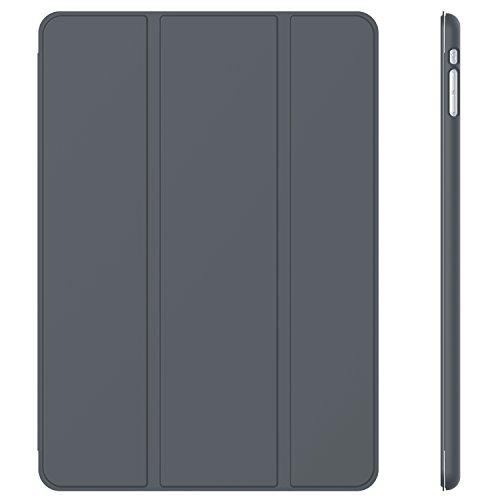 JETech Hülle für Apple iPad Mini 1 2 3, Licht und Dünn Schutzhülle mit Ständer Funktion und Auto Einschlafen, Aufwachen, Dunkel Grau (Apple Ipad Mini 2 Case)