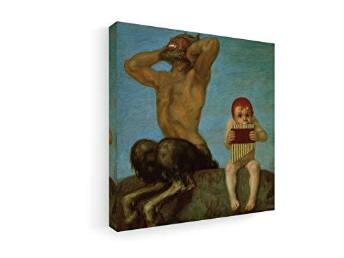 Franz Von Stuck - Dissonanz - 60x60 cm - Premium Leinwandbild auf Keilrahmen - Wand-Bild - Kunst, Gemälde, Foto, Bild auf Leinwand - Alte Meister/Museum