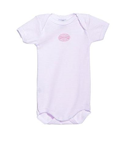 Petit Bateau Baby-Mädchen Body Mc Cr Miller, Mehrfarbig (Vienne/Ecume 38), 104 (Herstellergröße: 4A)