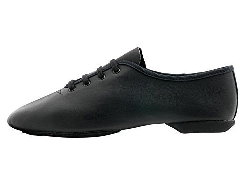 Black Leather Split Sole Dance Stage Jazz Jive Cerco Practice Modern Shoes By Katz Dancewear All Sizes