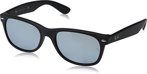 Ray Ban Unisex Sonnenbrille New Wayfarer Gestell: Schwarz, Gläser: Silber Flash 622/30), Large (Herstellergröße: 55)