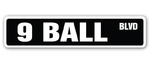 SignMission 9-Ball Street Schild Billard Pool Queue Pooltable Darts-| | 45,7cm Breit