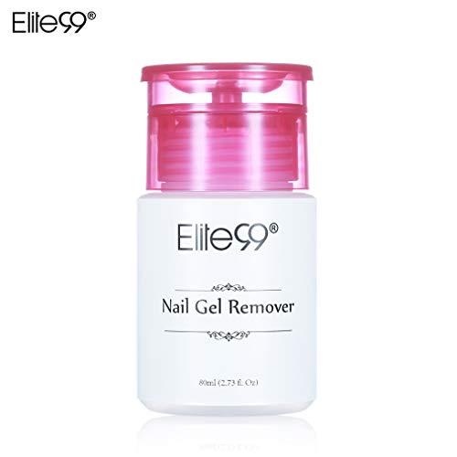 Elite99 80ml Dissolvant Remover pour vernis semi permanent- Manucure, Faux Ongles et Nail...