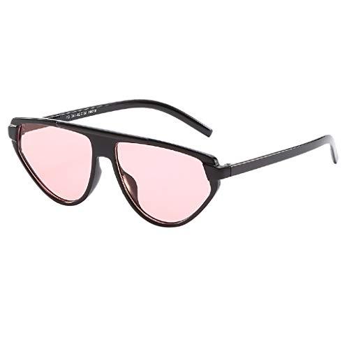 Fcostume Vintage Sonnenbrille für Unisex-Augen Retro Eyewear Fashion Strahlenschutz (Rosa)