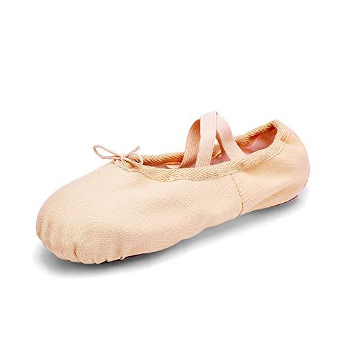 TRIWORIAE - Zapatos de Baile Ballet Zapatillas de Danza/Yoga/Pilates/Gimnasia para Niña Mujer Beige 29 EU