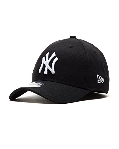 New Era Herren Baseball Cap Mütze M/LB Basic NY Yankees 39Thirty Stretch Back, Black/ White, M/L, 10145638