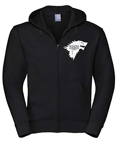 Felpa con Cappuccio e Zip Winter is Coming Stark - Game of Thrones - Il...