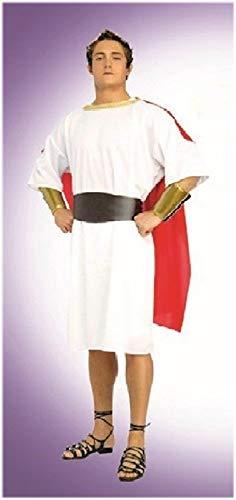 Elegantes Römer Cäsar Kostüm - römischer Centurio, für Herren, Größe S/M/L, mit Tunika + Gürtel + Kopfkranz + Armstulpen - gut für Fasching, Karneval, Theater und - Caesar Kostüm Für Erwachsene