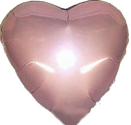 1 Stück Folienballon 'Herz', rosa, ca. 45 cm Ø, ohne LOLLIPOP®-Gasfüllung (Verkauf Rote Luftballons Zum)